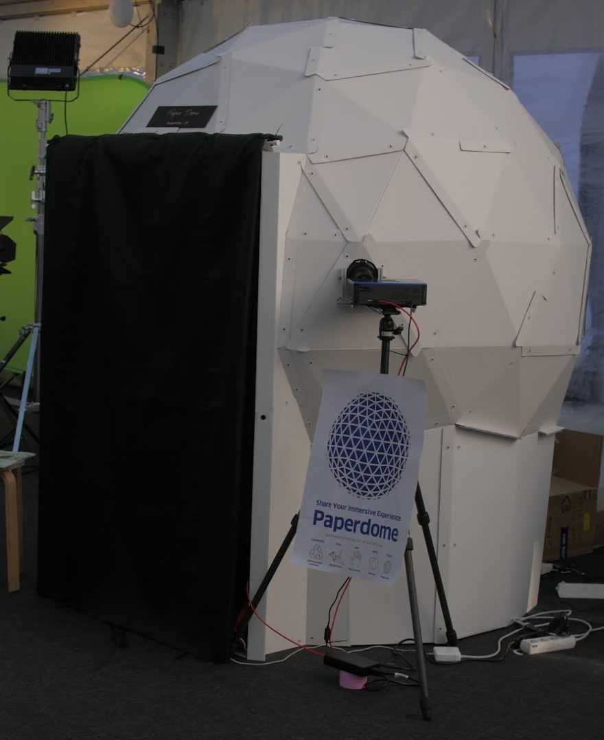 "Personal Cardboard Dome Screen ""FD180"" in KIKK.BE"